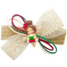 گیره سر دخترانه عروسکی کنفی Perance hairbows