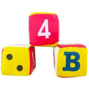 اسباب بازی بچگانه تاس اسفنجی سه عددی