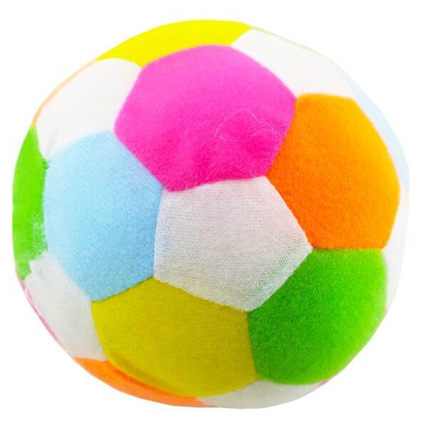 اسباب بازی بچگانه توپ مخمل چهل تکه