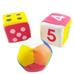 اسباب بازی بچگانه توپ و تاس اسفنجی سه عددی