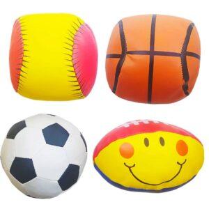 اسباب بازی توپ بچگانه بسته 4 تایی
