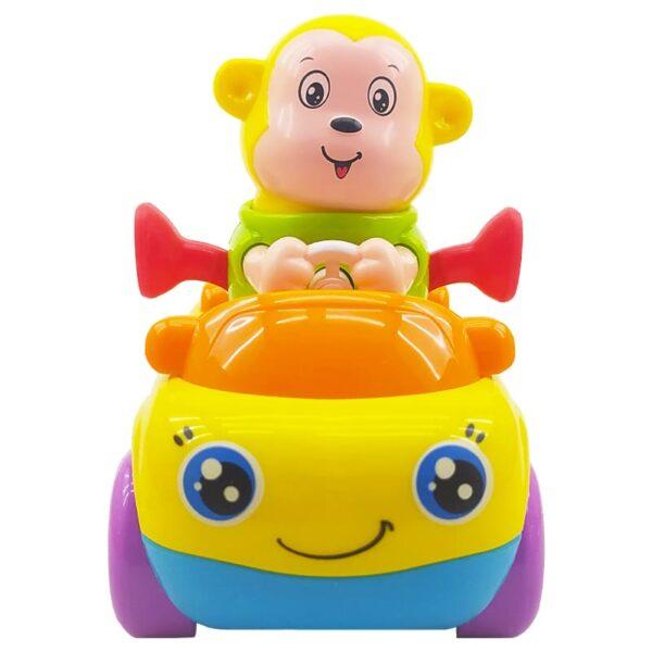 اسباب بازی ماشین قدرتی بچگانه طرح میمون هولا Hola