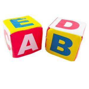 اسباب بازی بچگانه تاس اسفنجی دو عددی حروف انگلیسی