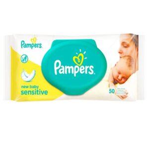 دستمال مرطوب 50 عددی پوستهای حساس پمپرز Pampers