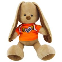 عروسک خرگوش سویشرت قلب دار نانو Nino