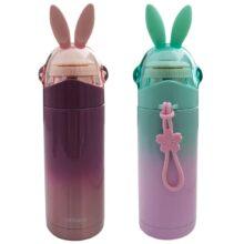 فلاسک  کودک استیل خرگوش درب شیشه ای just Love