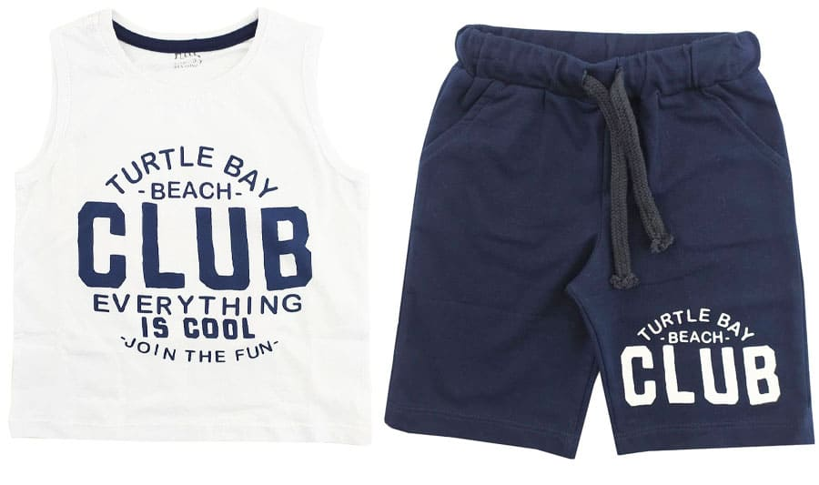 ست تاپ شلوارک پسرانه Beach Club