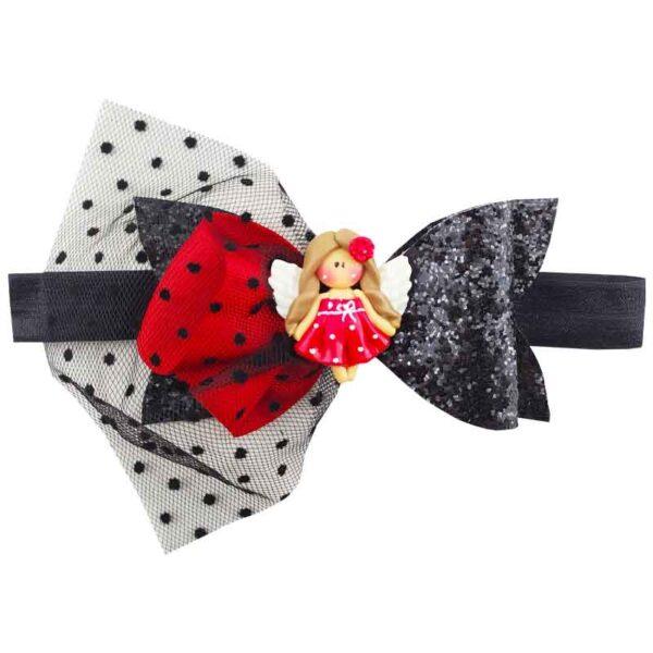 هدبند توری پاپیونی دخترانه عروسکی Perance hairbows