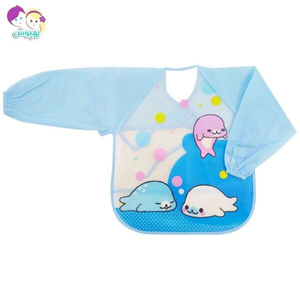 پیش بند لباسی بچگانه طرح دلفین