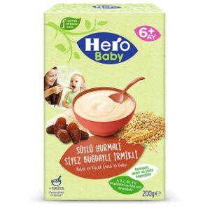 سرلاک ارگانیک با طعم شیر و خرما هیرو بی بی Hero Baby