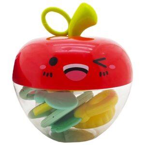 پک  دندان گیر جغجغه ای کودک طرح سیب