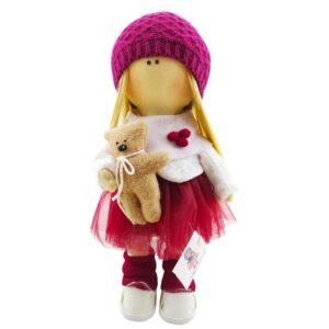 عروسک روسی دخترانه بافت لوزی خرس دار Tanha