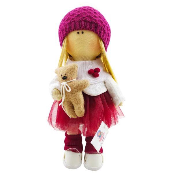 عروسک روسی دخترانه بافت لوزی خرس دار