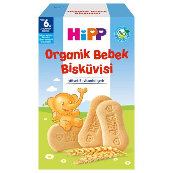بیسکوئیت ارگانیک ویتامین دار گندم و شیر Hipp