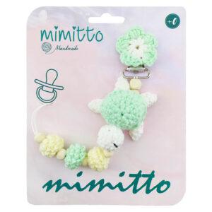 بند پستانک عروسکی بافت مغز پسته ای Mimitto