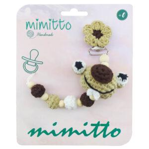 بند پستانک عروسکی بافت نسکافه ای Mimitto