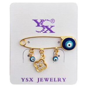 گیره سوزنی سنجاق سینه چشم نظر نگین دار YSX