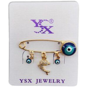 سنجاق سینه لباس دخترانه طرح چشم نظر   YSX
