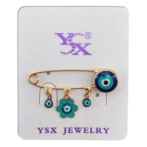 سنجاق سینه چشم زخم  طرح گل YSX