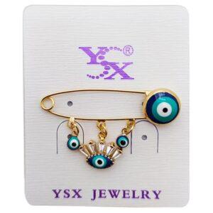 سنجاق سینه دخترانه چشم نظر طرح چشم YSX