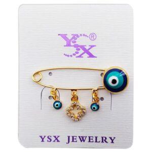 سنجاق سینه لباس دخترانه طرح چشم زخم YSX