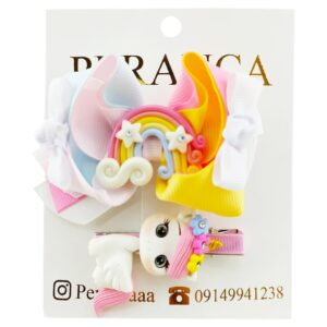 گیره دخترانه اسب تک شاخ و رنگین کمان Perance hairbows