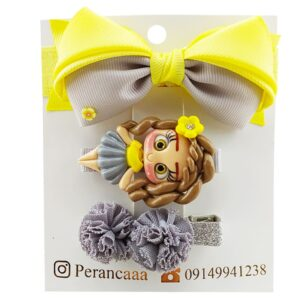 ست گیره و هدبند عروسکی توپی Perance hairbows
